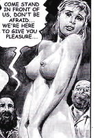 Captives in the clinic in the comics `Doctor Sex`